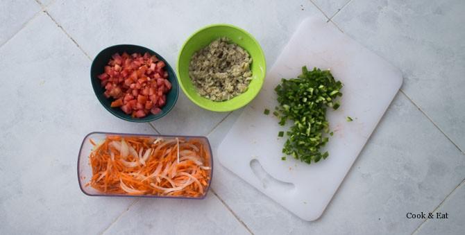 ингредиенты для баклажановой икры по рецепту стеллы