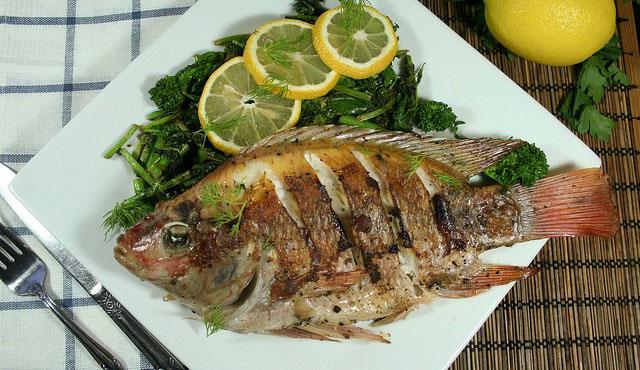 жареная рыба фото