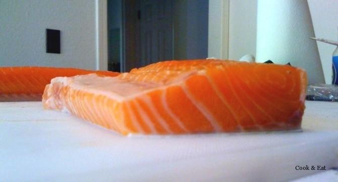 Филе лосося для засолки